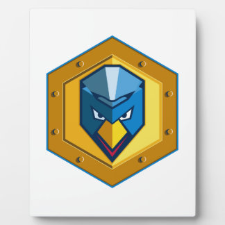 Cyber Punk Chicken Hexagon Icon Plaque