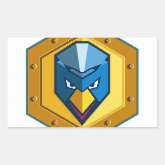 Cyber Punk Chicken Hexagon Icon Rectangular Sticker
