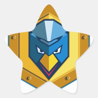 Cyber Punk Chicken Hexagon Icon Star Sticker