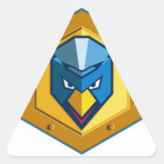 Cyber Punk Chicken Hexagon Icon Triangle Sticker