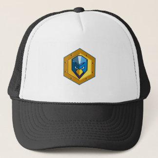 Cyber Punk Chicken Hexagon Icon Trucker Hat
