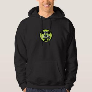 Cyber punk skunk radioactive hoodie
