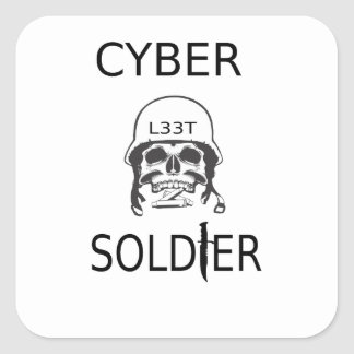 Cyber Soldier Hacker Stickers