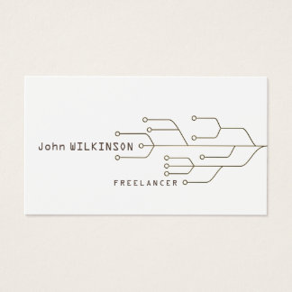 Cyber tech art template business card