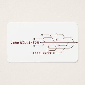 Cyber tech art template business card