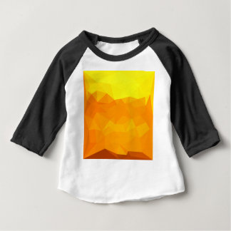 Cyber Yellow Abstract Low Polygon Background Baby T-Shirt