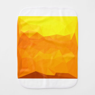 Cyber Yellow Abstract Low Polygon Background Burp Cloth