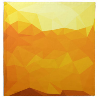 Cyber Yellow Abstract Low Polygon Background Napkin
