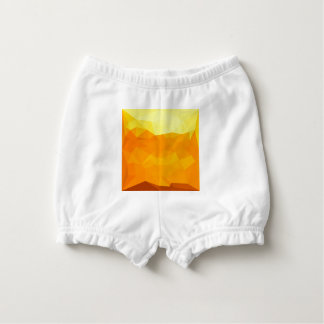 Cyber Yellow Abstract Low Polygon Background Nappy Cover