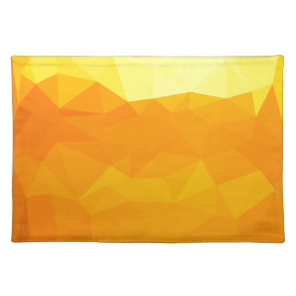 Cyber Yellow Abstract Low Polygon Background Placemat