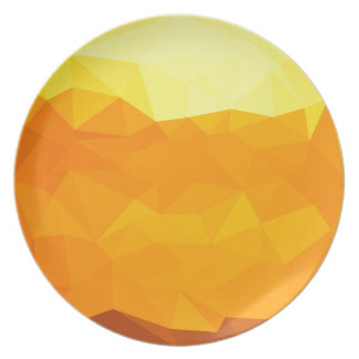 Cyber Yellow Abstract Low Polygon Background Plate