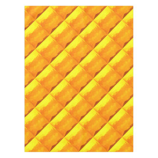 Cyber Yellow Abstract Low Polygon Background Tablecloth