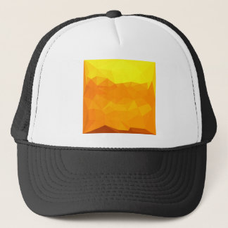 Cyber Yellow Abstract Low Polygon Background Trucker Hat