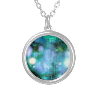CyberGirl Silver Plated Necklace