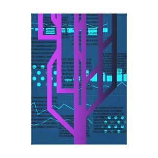 Cyberpunk Hacking Canvas Print