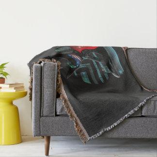 Cyberpunk Ninja Cat Throw Blanket