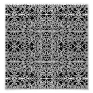 Cyberpunk Silver Print Pattern Photograph