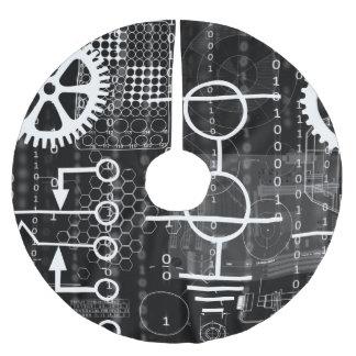Cyberpunk Tech Geek Gear Electronic Engineer Math Brushed Polyester Tree Skirt