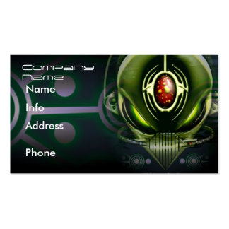 Cyborg Alien Business Cards