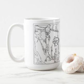 Cyborg Fantasy Techno Dream Coffee Mug