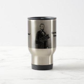 Cyborg Lincoln Travel Mug