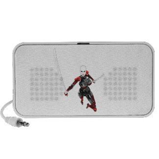 Cyborg Samurai Attacks Laptop Speakers