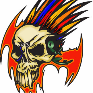 Cyborg Skull With Feathers Photo Cutouts