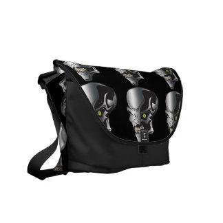 Cyborg Skulls Messenger Bags