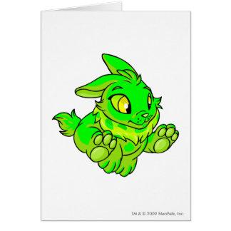 Cybunny Glowing Greeting Card