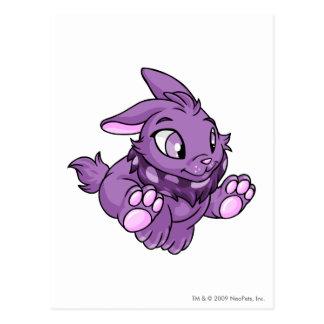 Cybunny Purple Postcard