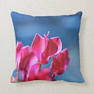 Cyclamen Flower Pillow