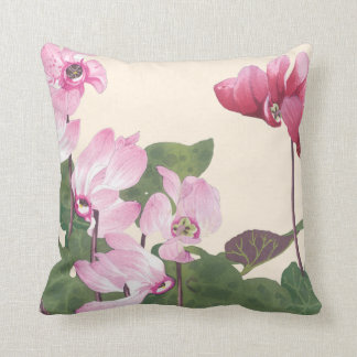 Cyclamen Flowers Cushion