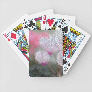 Cyclamen Flowers Mosaic Bicycle Playing Cards