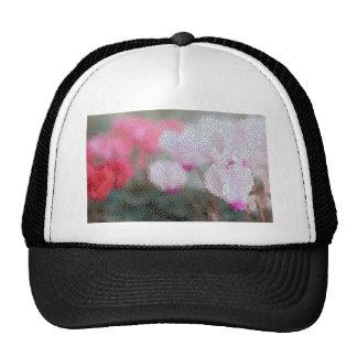 Cyclamen Flowers Mosaic Cap