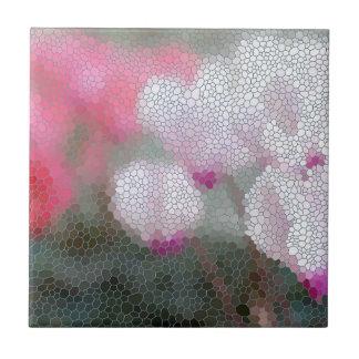 Cyclamen Flowers Mosaic Ceramic Tile