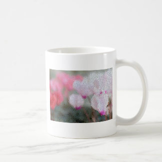 Cyclamen Flowers Mosaic Coffee Mug