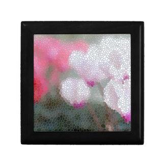 Cyclamen Flowers Mosaic Gift Box