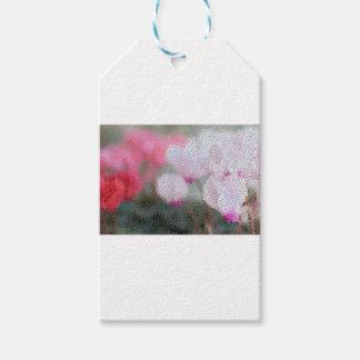 Cyclamen Flowers Mosaic Gift Tags