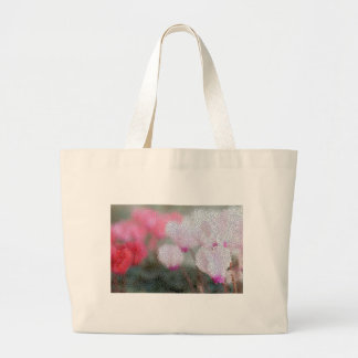 Cyclamen Flowers Mosaic Large Tote Bag