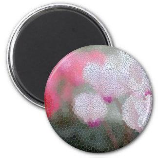 Cyclamen Flowers Mosaic Magnet