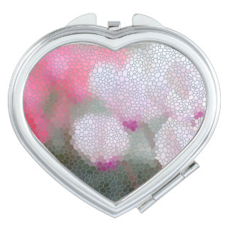 Cyclamen Flowers Mosaic Mirrors For Makeup