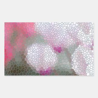 Cyclamen Flowers Mosaic Rectangular Sticker