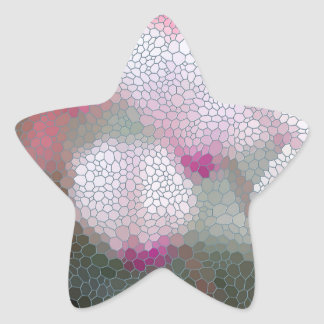Cyclamen Flowers Mosaic Star Sticker
