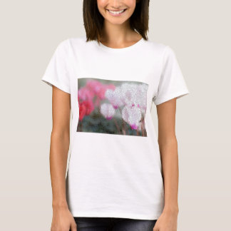 Cyclamen Flowers Mosaic T-Shirt