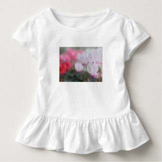 Cyclamen Flowers Mosaic Toddler T-Shirt