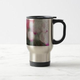 Cyclamen Flowers Mosaic Travel Mug