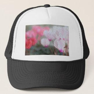 Cyclamen Flowers Mosaic Trucker Hat