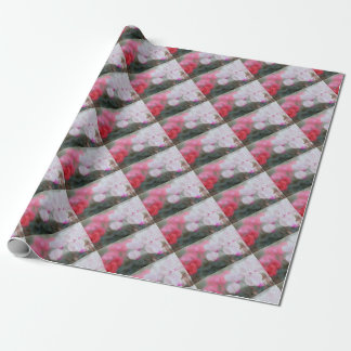 Cyclamen Flowers Mosaic Wrapping Paper