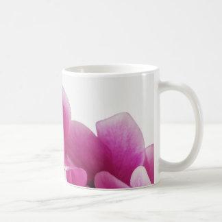 Cyclamen pink flowers coffee mug