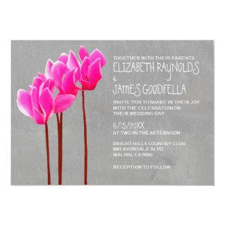 Cyclamen Wedding Invitations
